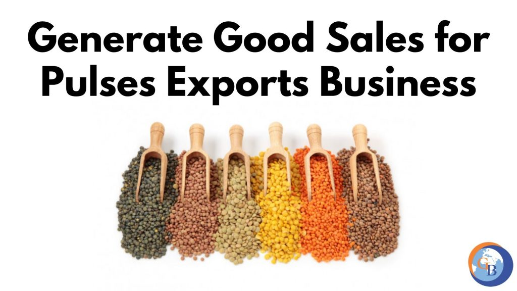 grow pulses exports business in India